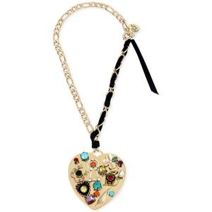 Betsey Johnson Lucky Charms Crystal Large Necklace
